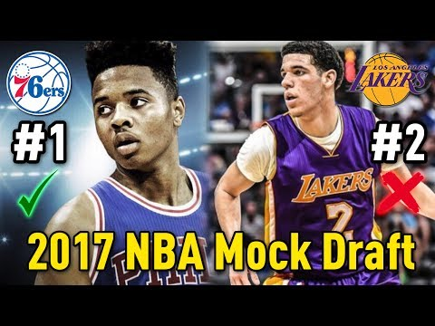 2017 NBA Mock Draft! (Ft. Lonzo Ball and Markelle Fultz) | Draft Day Top 15 Picks Predictions