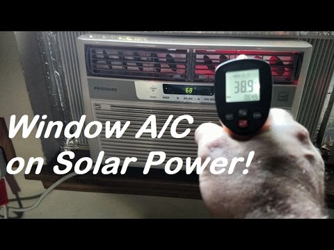Solar panel powered window air conditioner! How to reduce your summer electric bill and stay cool!