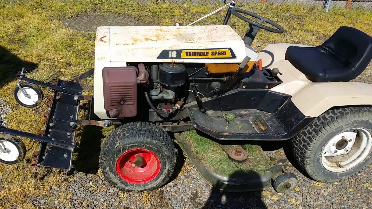 my free 1977 montgomery wards gilson garden tractor walk around  [ 1280 x 720 Pixel ]