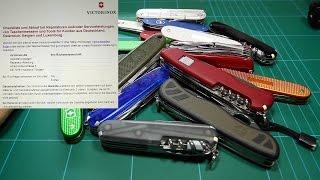 Victorinox Taschenmesser Service / Reparatur / Austausch / Garantie für DEUTSCHLAND!