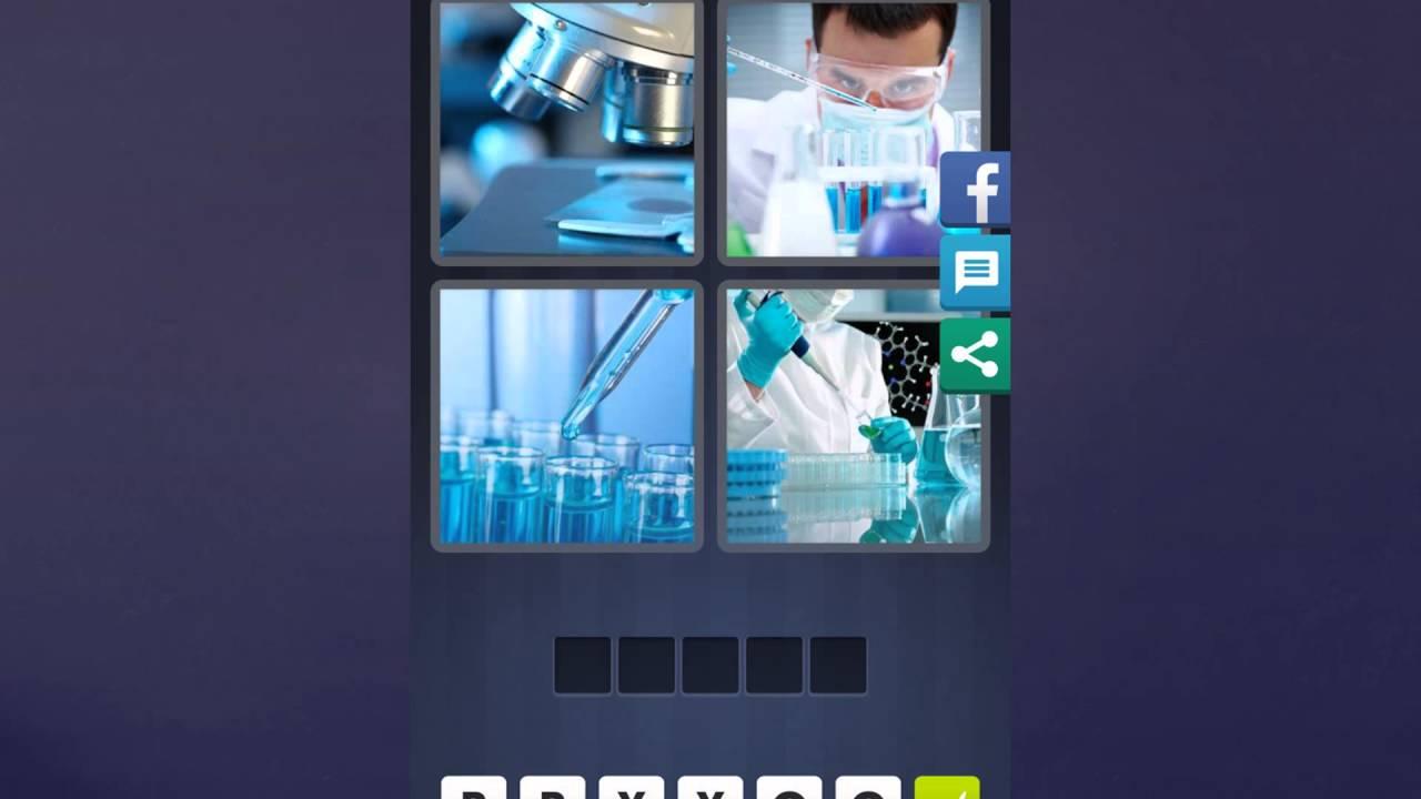 4 Bilder 1 Wort Lösung Mikroskop Mann Pipette Hände Youtube