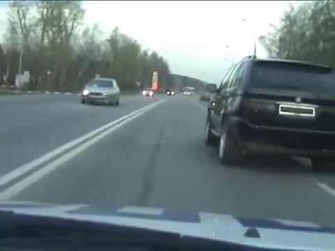 Погоня за BMW X5  Домодедовский район МО.avi