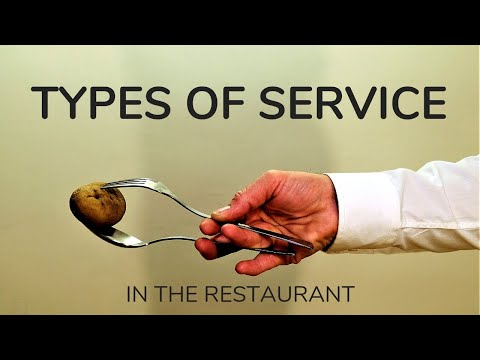 Types of services in the restaurant! French, American, Russian service. Restaurant Waiter training.