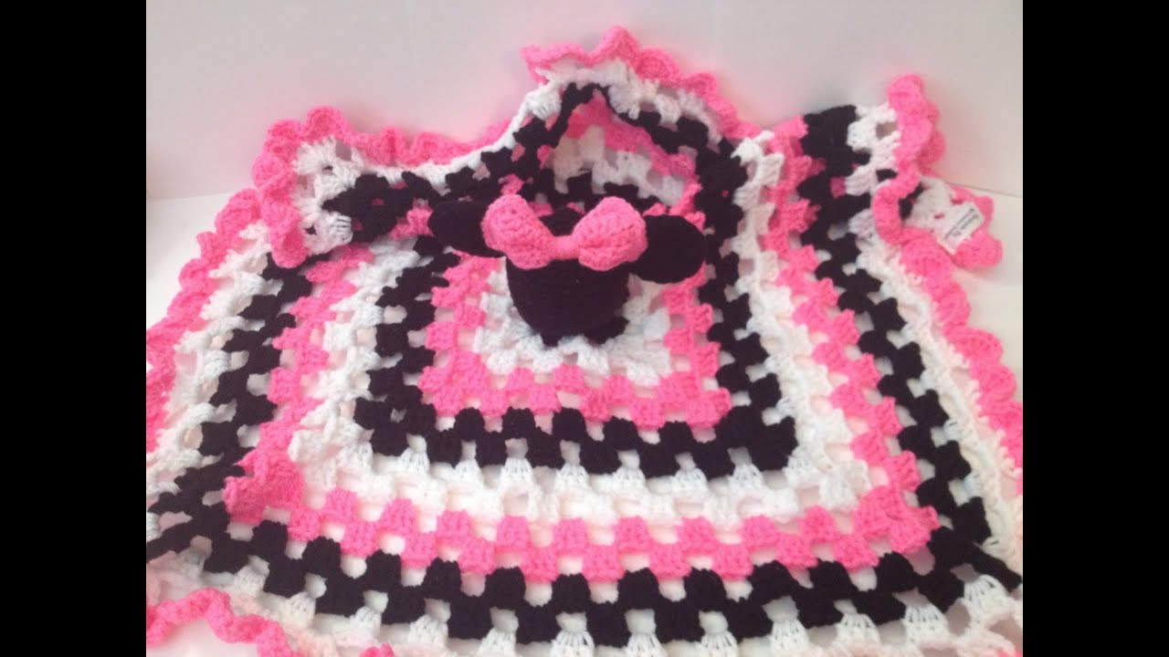 How To Crochet A Minnie Mickey Mouse Lovey Part 1 Of 2 Youtube