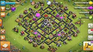 Live attack th9....huge amount looted #COC