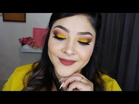 sombras de ojos color amarillo