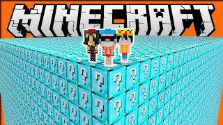 DESAFÍO CON LUCKY BLOCKS DE DIAMANTITO 😱❓💎 MINECRAFT TROLL DIAMANTE