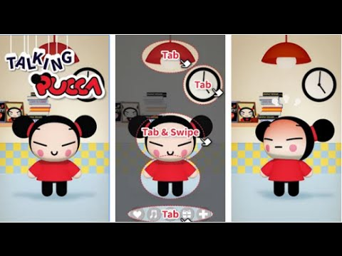 Talking Pucca Education Android İos Free Game GAMEPLAY VİDEO