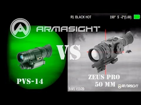 Night Vision vs Armasight Thermal Heavy Fog Full moon