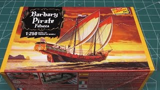Lindberg 1/250 Barbary Pirate Ship Model Kit Review.