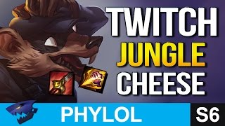 THE CHEESIEST CARRY JUNGLER! Twitch Jungle Gameplay (League of Legends)