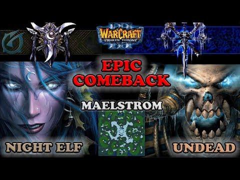 Grubby | Warcraft 3 The Frozen Throne | 2v2 NE&NE v UD&NE -Comeback! - Maelstrom