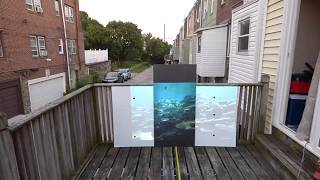 OLED TV LIKE OUTDOOR BLACK PROJECTION SCREEN 12 FT BLACK ON 2500 LUMENS