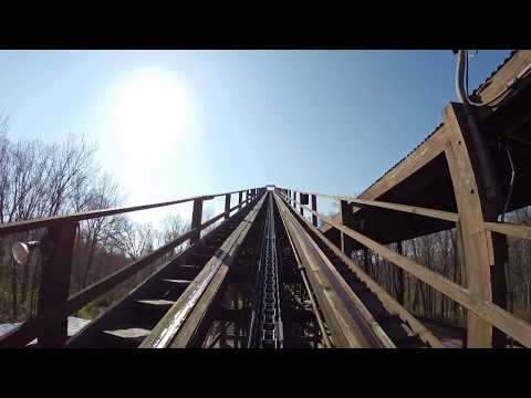 The Beast Wooden Roller Coaster POV Legendary Classic Woodie at Kings Island Ohio HD 1080p
