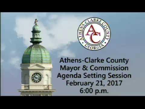02-21-2017 Agenda Setting Session