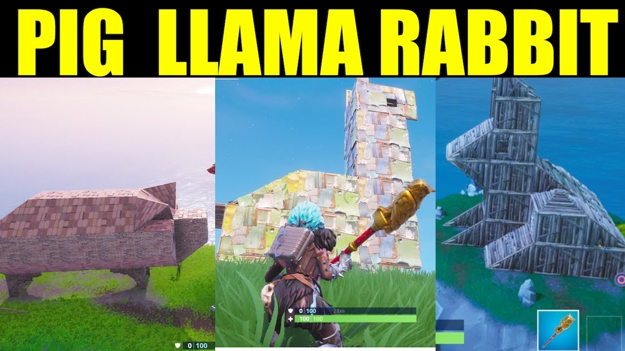 Visit Wooden Rabbit Stone Pig Metal Llama Locations Guide Fortnite Season 8