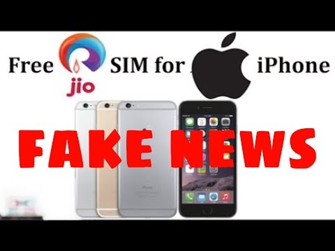 Reliance JIO 4G SIM free for Apple iPhones (This is Fake News)