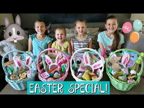 FUN EASTER MORNING SPECIAL | GIRLS EASTER BASKET HAUL AND HUGE EASTER EGG HUNT 2017