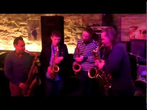 Tallinn   day 18 Radio station, Olde Hansa, sax free jazz impro