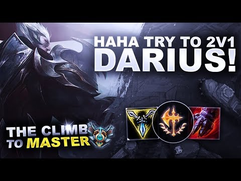 HAHA TRY TO 2V1 DARIUS - Climb to Master | League of Legends thumbnail