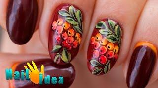 видео рисуем акриловыми красками на ногтях
