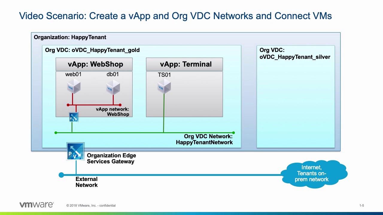 VMware vCloud Director: Managing Organization VDC Networks