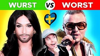 BEST and WORST Eurovision songs (1958-2021)