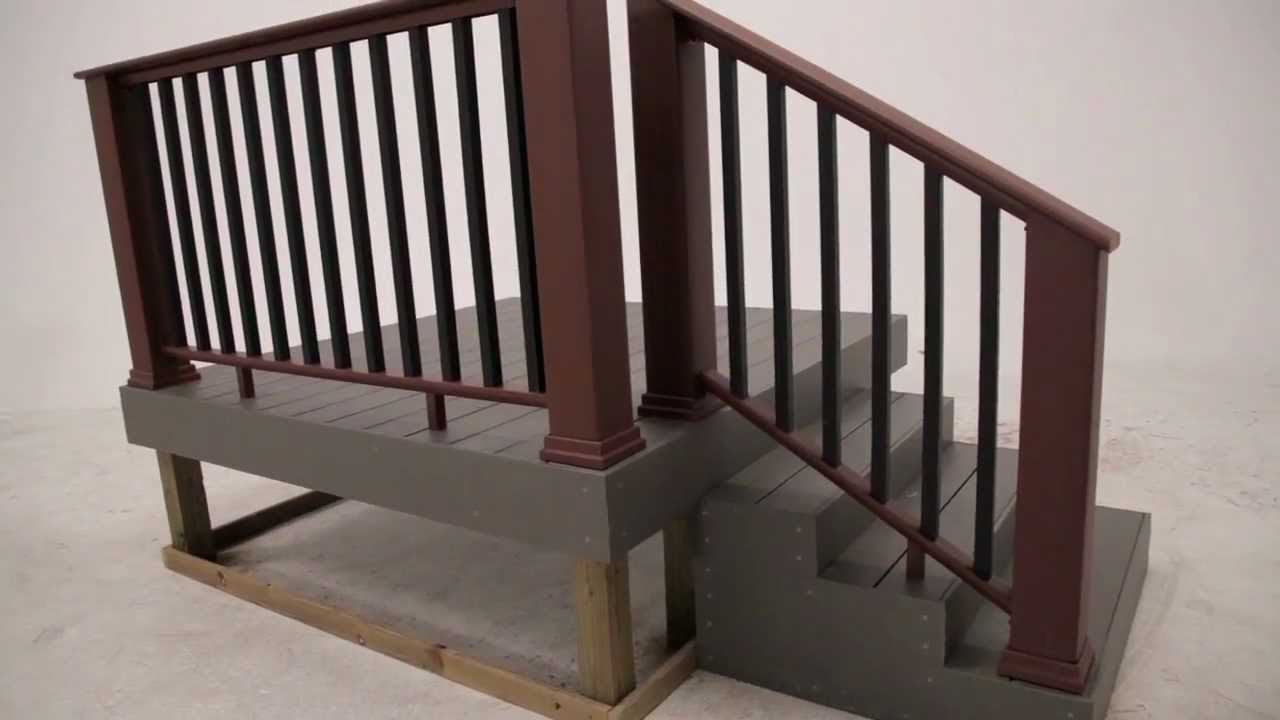 Timbertech evolutions rail contemporary with composite balusters timbertech evolutions rail contemporary with composite balusters install youtube baanklon Choice Image