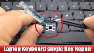 Laptop Keyboard key repair very easy way.