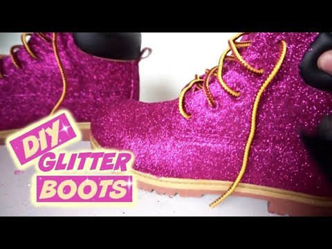How To GLITTER BOOTS (NO SHEDDING)