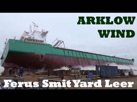 Stapellauf ARKLOW WIND Ferus Smit Werft in Leer, 1.3.2019