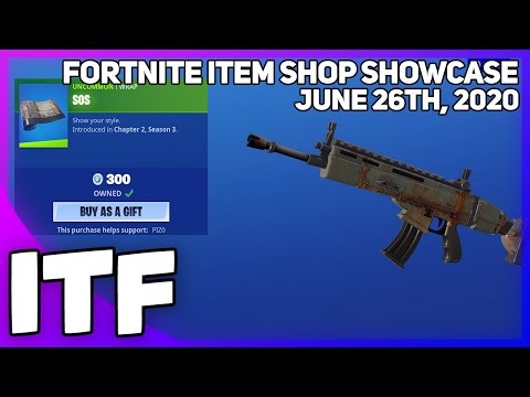 Fortnite Item Shop *NEW* SOS WRAP! [June 26th, 2020] (Fortnite Battle Royale)