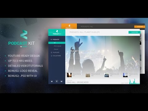 Z Music - Podcast Kit After Effects template - YouTube - podcast website template