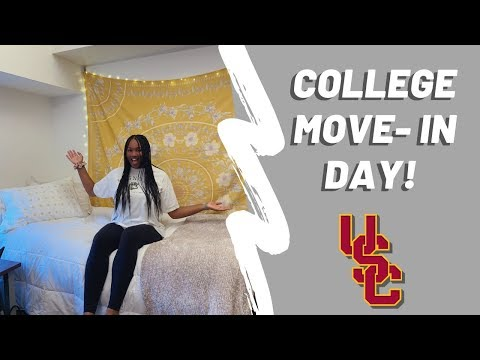 college move-in day: university of southern california (!!!)
