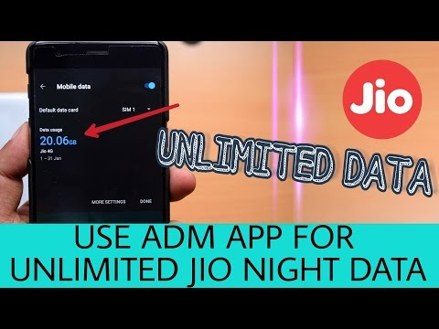 How To Use ADM App For Jio Unlimited Night Data | Problems Resolved
