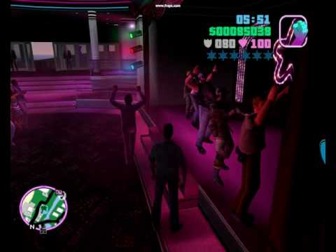 GTA Vice City Police officer and Militairy at malibu club