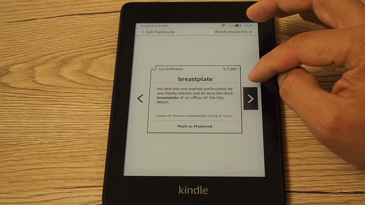 Vocabulary Builder w Kindle Paperwhite IV