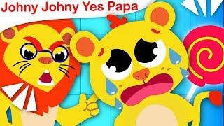 Johny Johny Yes Papa | Don't be Sneaky Baby Lion | Nursery Rhymes by Little Angel