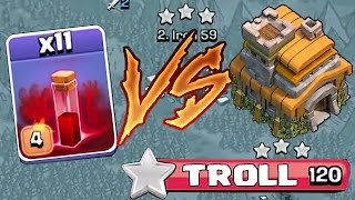 Clash Of Clans - TH7 VS. ALL SKELETONS SPELLS (3 Star troll attacking)