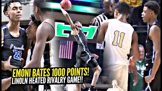 Emoni Bates Reaches 1000 POINTS During HEATED Rivalry Game!! Lincoln vs YPSI Full Highlights