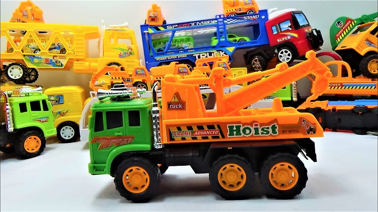 New super crane truck toys, truck toys and car toys for kids