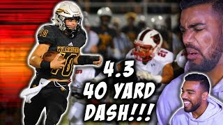 The *FASTEST* *WHITE* Quarterback In The Country!!!- John Rhys Plumlee Highlights [Reaction]