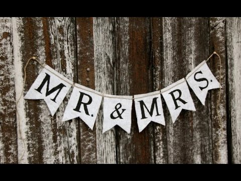 Burlap Wedding Banner - YouTube