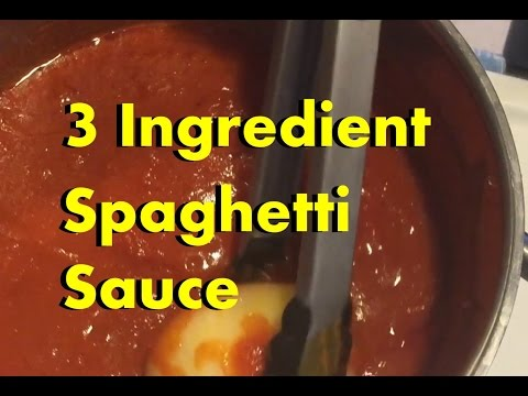 How to make a easy spaghetti sauce