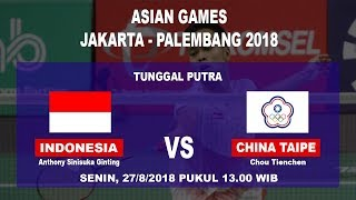 Download Video Jadwal Badminton Tunggal Putra Indonesia, Anthony Ginting Vs Chou Tienchen di Asian Games MP3 3GP MP4