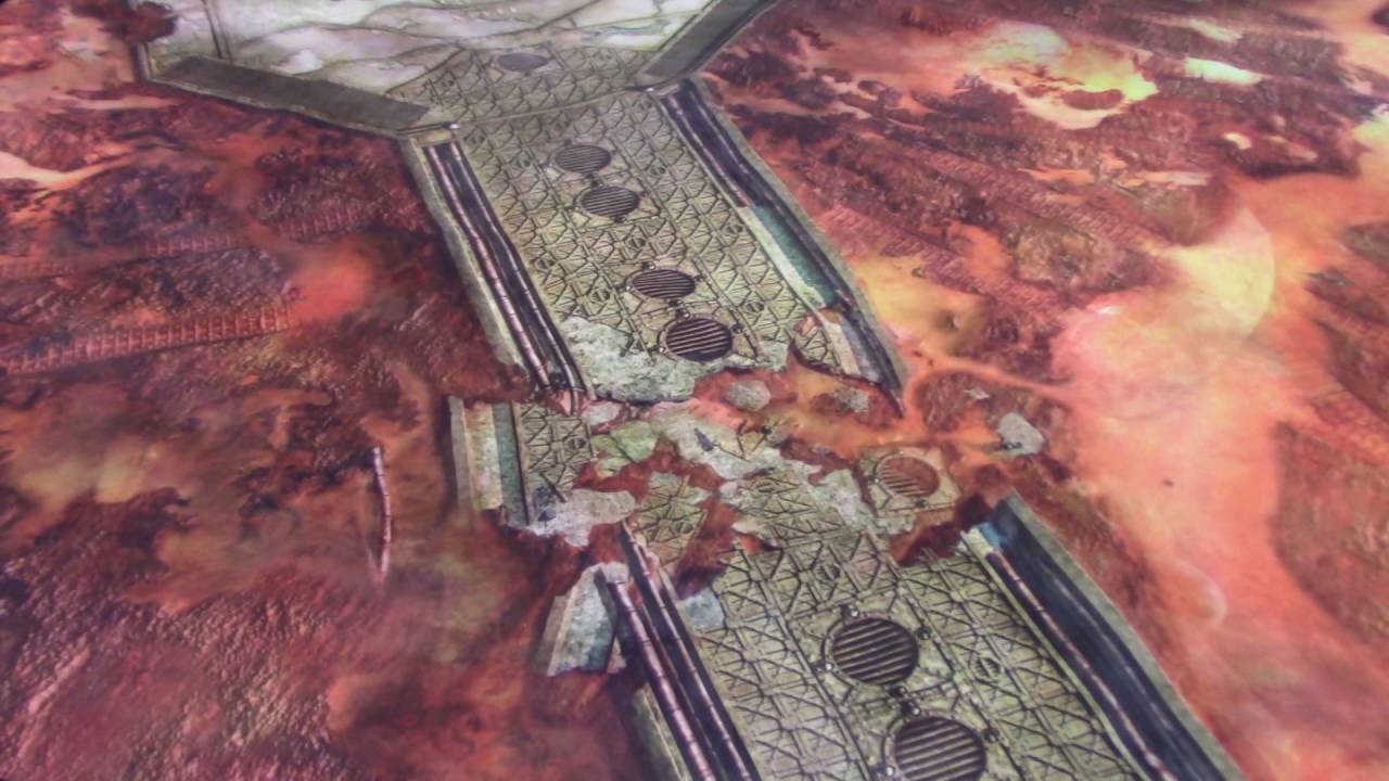 Warhammer 40 000 Battle Mat City Ruin Review Youtube