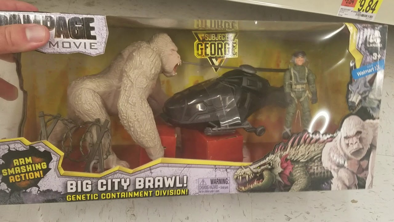 Rampage The Movie Big City Brawl George Arm Smashing Action Playset Action Figures Toys Games Action Figures