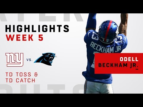 Odell Beckham Jr. Catches & Throws a TD vs. Panthers