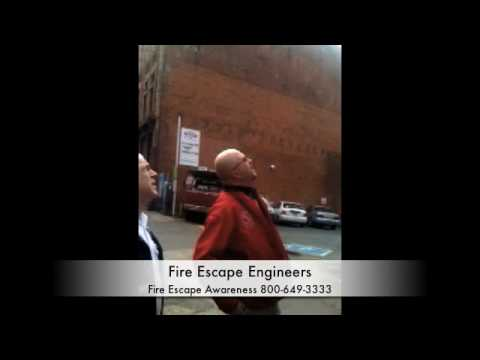 Fire Escape Engineers during a Seattle Downtown Walkaround