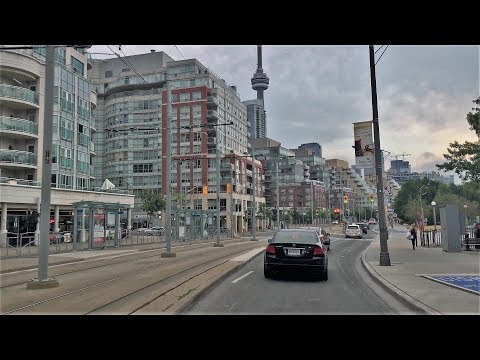 Driving Downtown - Toronto's Waterfront 4K - Canada